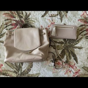 Kate Spade mini backpack and wallet set